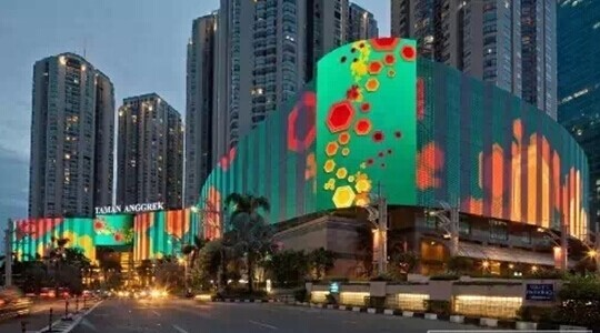 The world 39 s largest led screen in indonesia for Passion jewelry taman anggrek