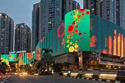 largest LED screen in Indonesia