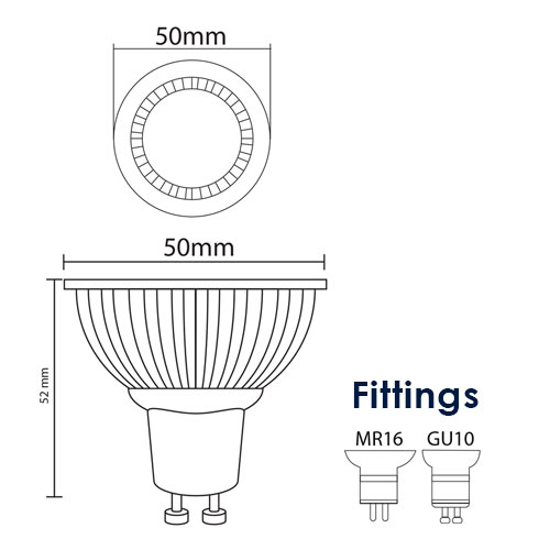 5W COB LED Down Light-EV SERIES diagram thumb