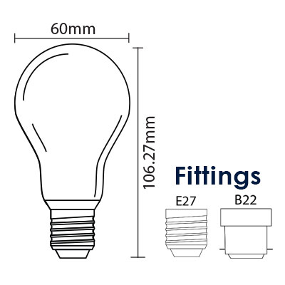 6W LED Glass Globe Light diagram thumb