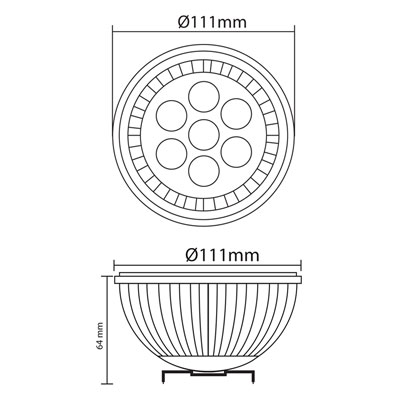 7w ar111 industrial downlight thumb
